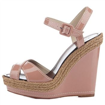 Christian Louboutin Almeria 120mm Wedges Nude