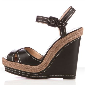 Christian Louboutin Almeria 120mm Wedges Black