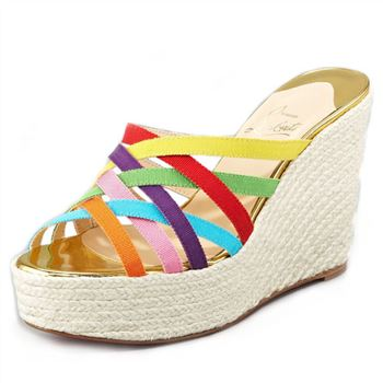 Christian Louboutin Crepon 140mm Wedges Multicolor
