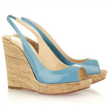 Christian Louboutin Jean Paul 120mm Wedges Light Blue