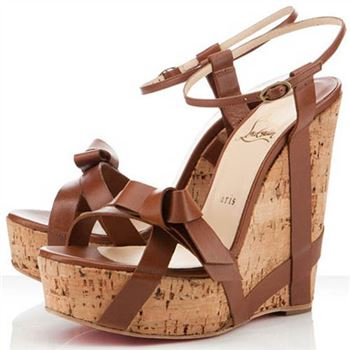 Christian Louboutin Miss Cristo 140mm Wedges Brown