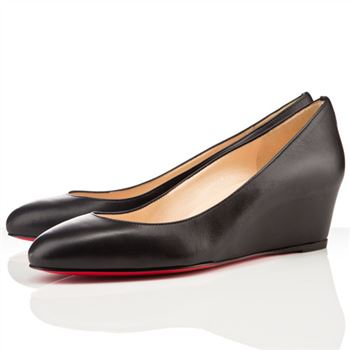 Christian Louboutin New Peanut 40mm Wedges Black