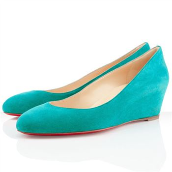 Christian Louboutin New Peanut 40mm Wedges Caraibes