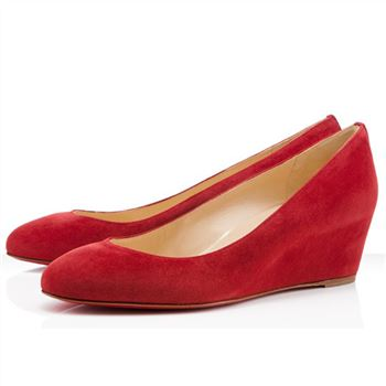 Christian Louboutin New Peanut 40mm Wedges Red