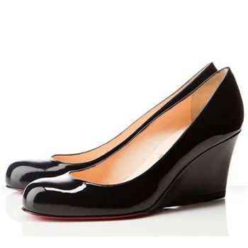 Christian Louboutin Miss Boxe 80mm Wedges Black