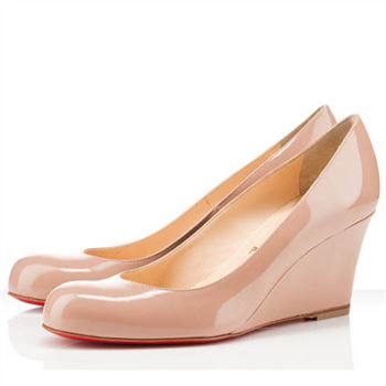 Christian Louboutin Miss Boxe 80mm Wedges Nude
