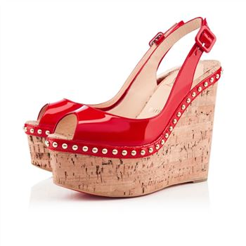 Christian Louboutin Monico 140mm Wedges Rose Matador