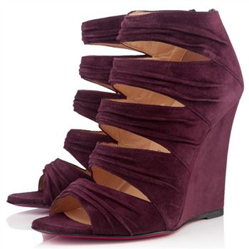 Christian Louboutin Developpa 100mm Wedges Plum