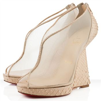 Christian Louboutin Janet 120mm Wedges White