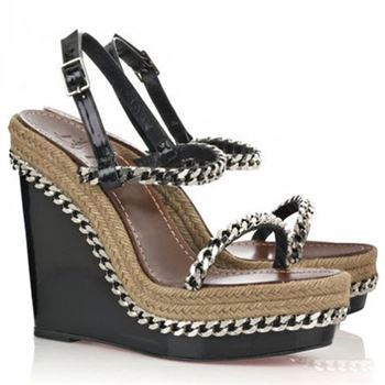 Christian Louboutin Macarena 120mm Wedges Black