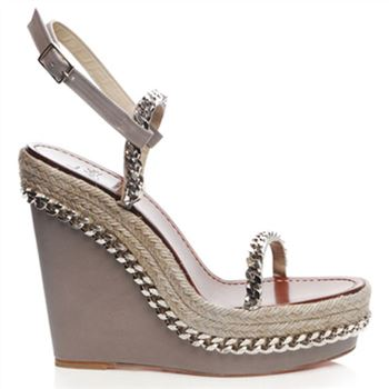 Christian Louboutin Macarena 120mm Wedges Taupe