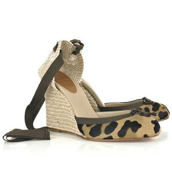 Christian Louboutin Carino 100mm Wedges Leopard