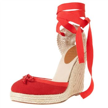Christian Louboutin Carino Plato 120mm Wedges Red