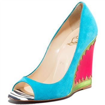 Christian Louboutin Miramar 100mm Wedges Blue