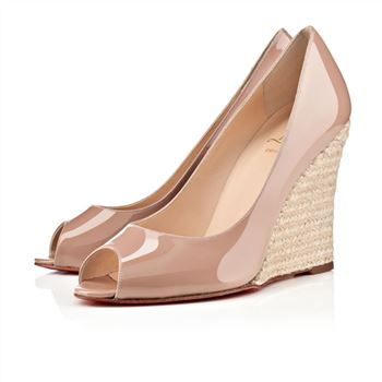 Christian Louboutin puglia 100mm Wedges Nude