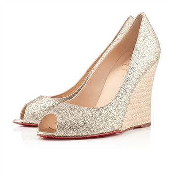 Christian Louboutin puglia 100mm Wedges Gold