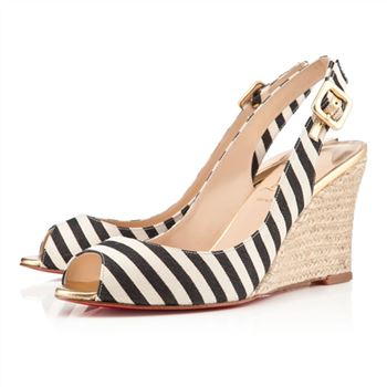 Christian Louboutin puglia 80mm Wedges Black/Gold