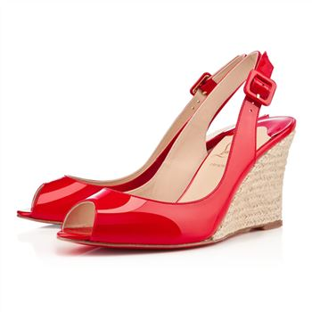 Christian Louboutin puglia 80mm Wedges Rouge Lipstick