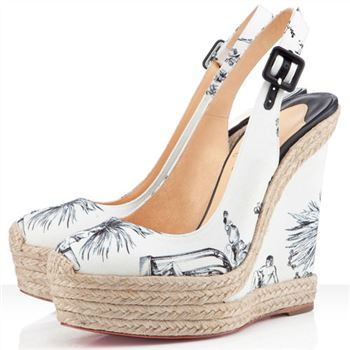 Christian Louboutin Everesta 140mm Wedges White