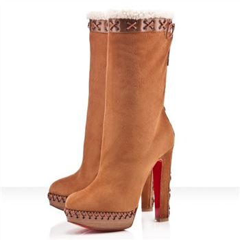 Christian Louboutin Step N Roll 140mm Boots Camel