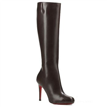 Christian Louboutin Simple Botta 100mm Boots Chocolate