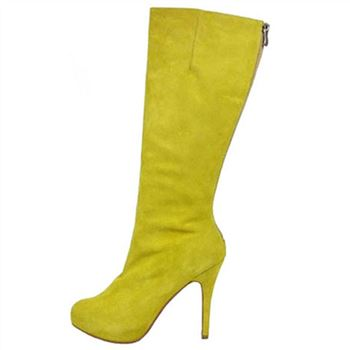 Christian Louboutin Simple Botta 100mm Boots Yellow