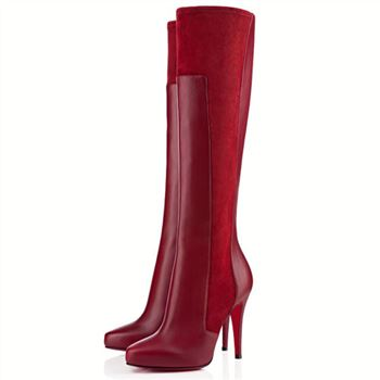Christian Louboutin Ysa 100mm Boots Red