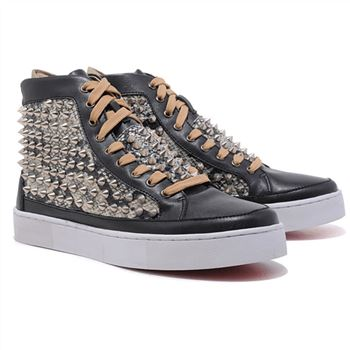 Christian Louboutin Louis Spikes Sneakers Black