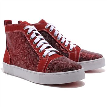 Christian Louboutin Louis Strass Sneakers Red