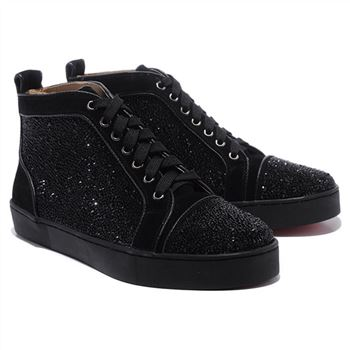 Christian Louboutin Louis Strass Sneakers Black