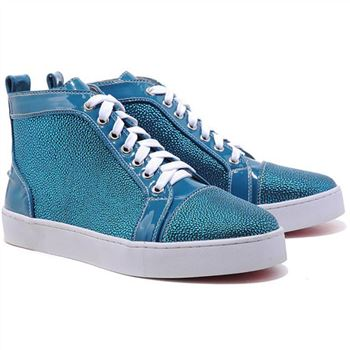 Christian Louboutin Louis Strass Sneakers Blue