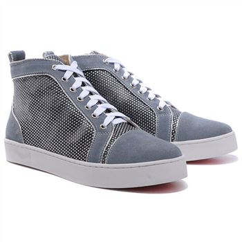 Christian Louboutin Louis Rhinestones Sneakers Grey