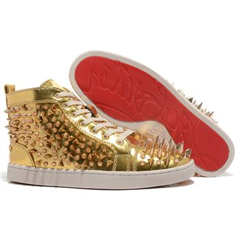 Christian Louboutin Louis Pik Pik Sneakers Gold
