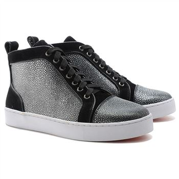 Christian Louboutin Louis Jeweled Sneakers Black