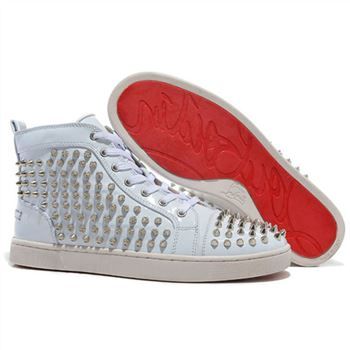Christian Louboutin Louis Spikes Sneakers White