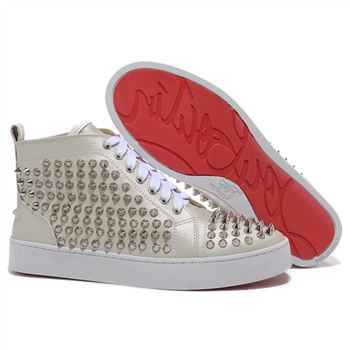 Christian Louboutin Louis Spikes Sneakers Beige