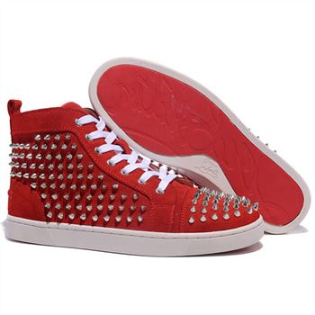 Christian Louboutin Louis Spikes Sneakers Red