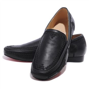 Christian Louboutin Croc Maroc Loafers Black