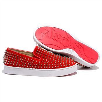 Christian Louboutin Roller Boat Loafers Red