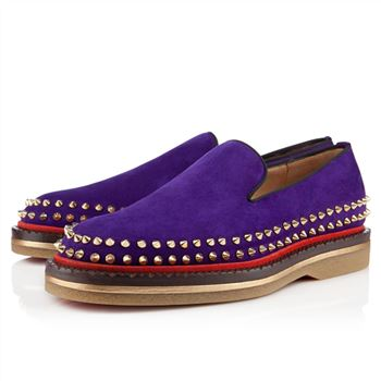 Christian Louboutin Fredapoitiers Loafers Purple