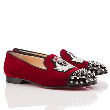 Christian Louboutin Intern Loafers Red