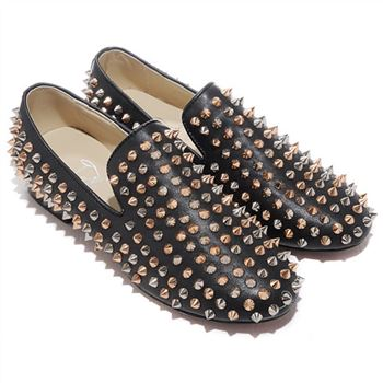 Christian Louboutin Rolling Spikes Loafers Black