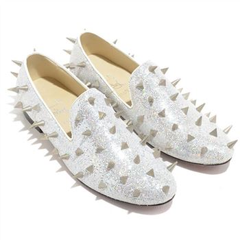 Christian Louboutin Rollergirl Loafers White
