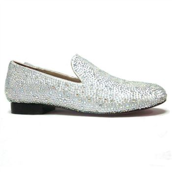 Christian Louboutin Strass Loafers White