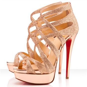Christian Louboutin Balota 140mm Sandals Nude