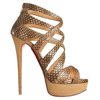 Christian Louboutin Balota 140mm Sandals Python