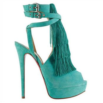 Christian Louboutin Change Of The Guard 140mm Sandals Caraibes