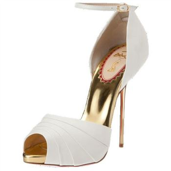 Christian Louboutin Armadillo Bride 120mm Sandals White