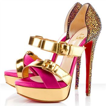 Christian Louboutin Ambertina 140mm Sandals Rose Matador