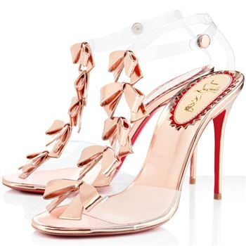 Christian Louboutin Bow Bow 100mm Sandals Pink